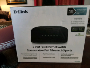 5 Port Fast Ethernet Switch - Brand new