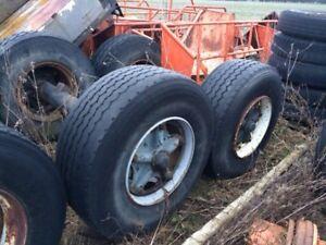 Dodge van , farm axles , other farm related items
