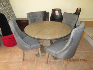 Round Table with 4 Chairs