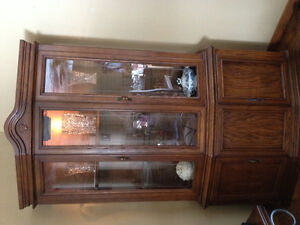 Beautiful walnut finish china cabinet