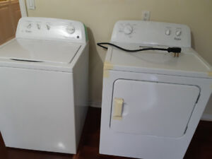 Set of Whirlpool Washer and Dryer  in Excellent Condition