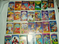 a vendre films vhs walt disney plus machine vhs + 2 meubles  80
