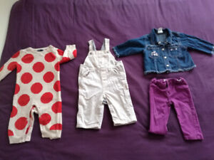 0-1year girls clothes including hats, shoes, wraps, playing mat,