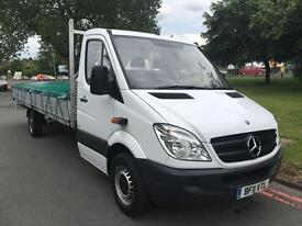 2011 Mercedes Sprinter 313 CDI 19ft 10in Extra Long (6m) Load Length Dropside