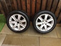 "2 x Peugeot 16"" wheels and tyres"