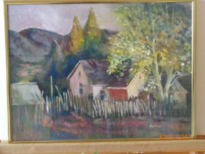Country side house Original oil painting