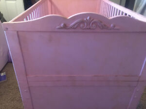 Pretty Pink Crib and Bookcase