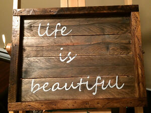 Locally Handcrafted Pallet art St. John's Newfoundland image 9