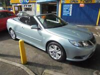 2010 10 SAAB 9-3 LINEAR SE 1.8 TURBO CONVERTIBLE IN SILVER GREEN # LOW MILEAGE #