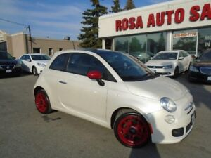 2012 Fiat 500 Sport 4 NEW TIRES  LOW KM SUNROOF LEATHER HEATED S