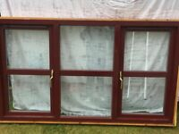 Mahogany double glazed window