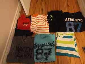 Lot of mens name brand shirts. Size large