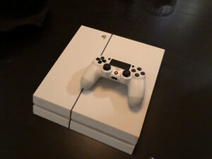 White Playstation 4 with 240GB SSD & FIFA 18/19