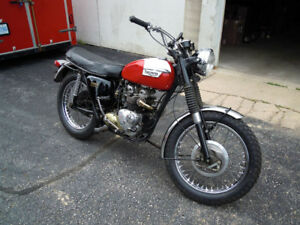 1969 TRIUMPH T100C FOR SALE, LOW MILEAGE, NUMBER MATCH, RUNS A1