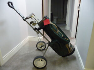 LADIES GOLF CLUBS, BAG  and CART