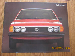 1979 VW Scirocco Dealer Brochure London Ontario image 1