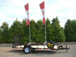 Miska 5'x15' Single Axle Utility/ATV Trailer