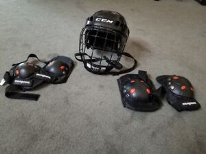 Lacrosse Equipment (Pads, Stick and Helmet)