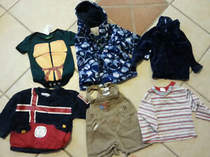 assorted fall/winter 12 month clothing