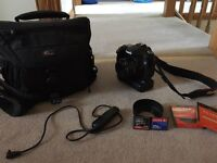 Canon 40d with 50mm 1.8 lens & battery grip + accessories