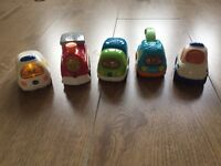 Toot toot drivers 4 vehicles including train police tow truck ambulance