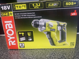 Ryobi one 18volt sds drill with chisel functions
