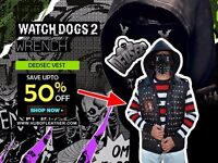 Desdec Wrench Watch Dogs 2 Original leather jacket