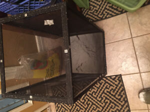 Reptile cage with heating light & more