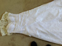 Beautiful Strapless Wedding Gown  Size 14