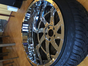 24x14 5x139.7/5x5.5 305/35 American truxx wheels and tires