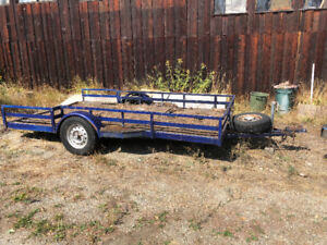 MUST SELl: Flat Deck Utility Trailer/no papers OBO