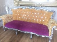 French chaise lounge sofa