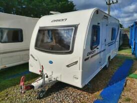 2011 Bailey Orion 430 4 Berth Fixed Bed End Washroom Caravan, MMover, Solar