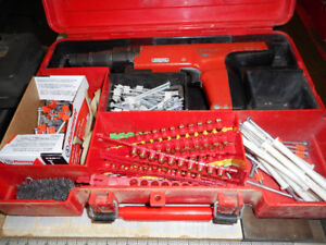 Hilti 350 DX Fastener (Concrete) & Electric Drill & Bits