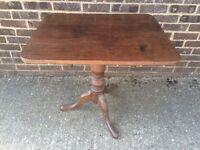 Lovely oak tilt top table