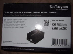 SPDIF Digital Coaxial or Toslink to Stereo RCA Audio Converter