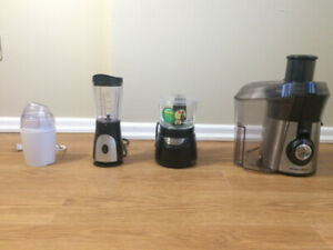 Juicer, Blender, Food Processor, Spice Grinder
