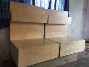 Discontinued Birch malm IKEA bedside tables
