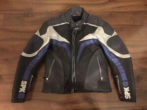 Manteau de moto en cuir Spyke