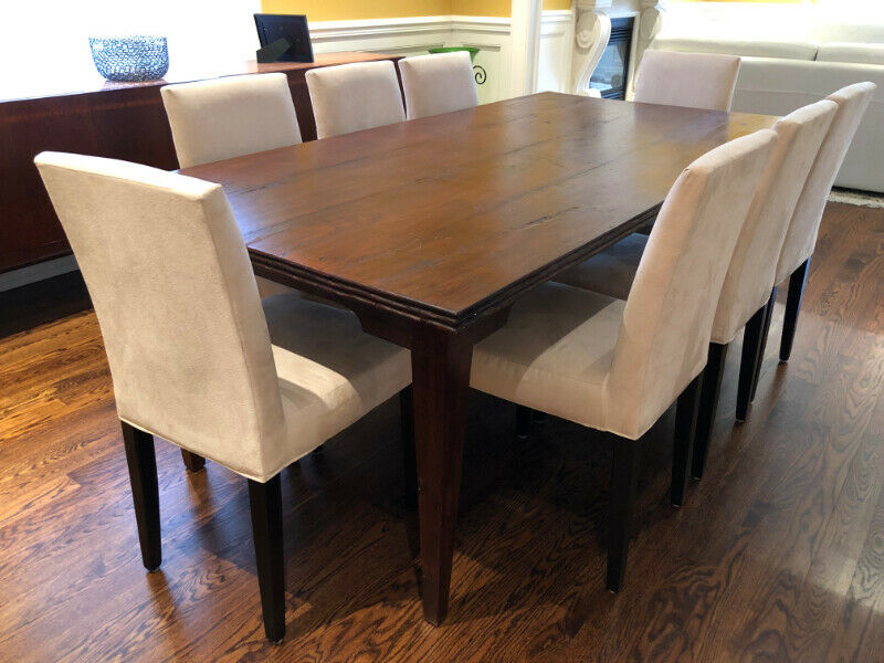 GORGEOUS SOLID WOOD DINING TABLE WITH EIGHT CHAIRS ...