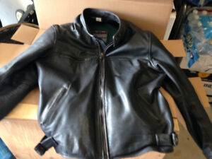 Leather Motorcycle Jacket Size Men's XL