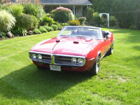 1967 Red Firebird 400 3speed auto posi trac