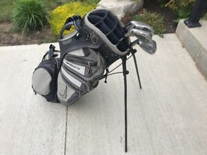 Wilson Staff irons and Nike golf bag