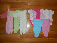 Lot of Girls Size 0-3mth Clothes