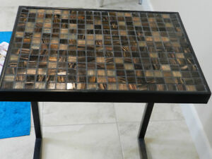 Unique Glass Tile Side Table needs a new home.