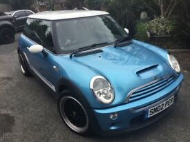 Mini Cooper S 1.6ltr metallic blue 2002 87,000 miles