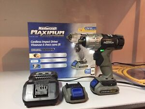 Perceuse impact drill mastercraft maximum dual touch