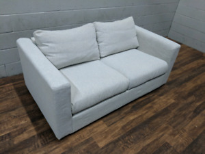 (Free Delivery) - Light grey Ikea Vimle loveseat