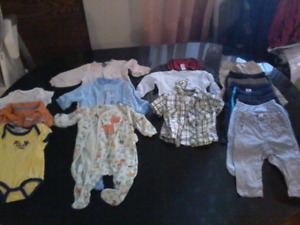 Baby boy cloths 3-6 months in good  condition