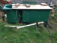 Pond equipment. 2 pumps, Kockney koi filter and uv lamp unit